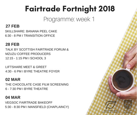 Fairtrade Fortnight Cometh