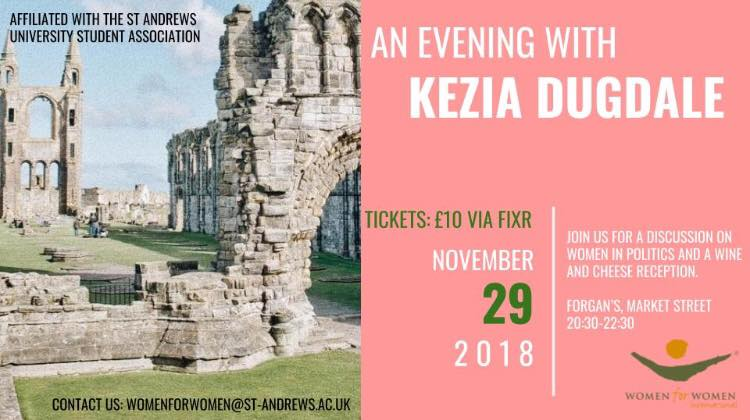 Women for Women Present Kezia Dugdale